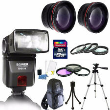 Bower SFD728C E-TTL Flash + Accessoreis For Canon EOS XS XSI T3 T1i T2i T3i