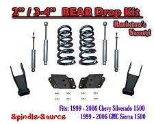 "1999 - 2007 Chevrolet Silverado / GMC Sierra 1500 V6 2"" / 4"" Lower Drop + SHOCKS"