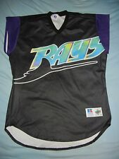 Russell Athletic TAMPA BAY DEVIL RAYS TURN AHEAD THE CLOCK Jersey 50 Team Issued