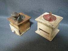 Ancien lot 2 moulin à café de dinette poupée jouet ancien old toy vintage
