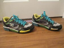 Used Worn Size 12 DC Shoes Versaflex Skateboard Shoes Multi Color