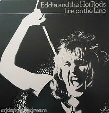 EDDIE & THE HOT RODS - Life On The Line ~ GATEFOLD VINYL LP + INSERT
