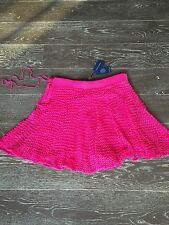 "Ralph Lauren Pink Double Layer ""Cruise"" Short Skirt sz. L $398 BNWT"
