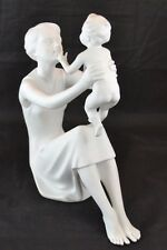 AK Kaiser Mother Child Son Figurine West Germany Signed Bochman White Bisque 398
