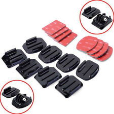 8Pcs Flat Curved Adhesive Mount Helmet Accs Kit For Camera Gopro Hero 1/2/3/3+