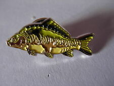 Mirror Carp pin badge. Angler. Angling. Fisherman. Fish.