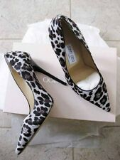 Jimmy Choo AUTH NIB 120MM Anouk Leopard Print Calf Pump 37 Quartz