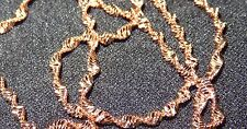 "9K Rose Gold Filled 2mm Water Wave 17"" Chain Necklace"