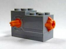 LEGO - Windup Motor 2 x 4 x 2 1/3 with Orange Release Button - Light Gray