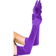 """21""""Long Satin Stretch Gloves Above Elbow Bridal Prom Wedding Formal Party Gloves"""