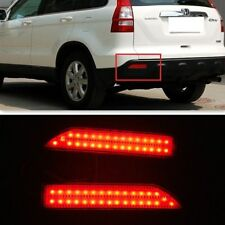 For Honda CRV CR-V 2007 2008 2009 Red lens LED Rear Bumper Reflector Light Lamp