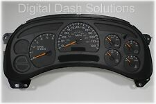 03-04 BUY A COMPLETE, FULLY REBUILT & PROGRAMMED GM TRUCK CLUSTER *NO EXCHANGE*
