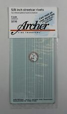 """Archer O-Scale (1/48) 5/8"""" Rivets for Streetcars and Interurban Vehicles AR88064"""