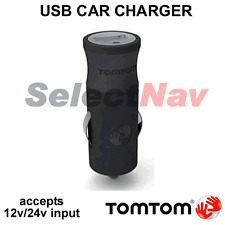 GENUINE Tom Tom USB Car Charger Head GO/LIVE/Via/ONE 12/24v input 5v 1.2A output
