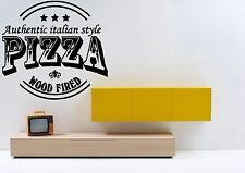 Wall Vinyl Sticker Decal Signboard Showcase Pizza Pizzeria Italian Style F1623