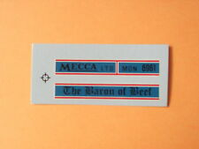 """Lesney Matchbox Series 1-75 No 5c Routemaster """"Baron Of Beef"""" Transfers/Decals"""