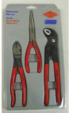 Knipex Specialty Pliers 3 Pc Set  Model 267487 w/ 10 In Cobra,Cutter, Long Nose.