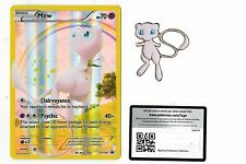 Mew Pokemon Mythical Collection Promo XY110 +  Matching Pin + Online Code