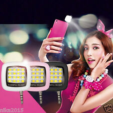Selfie Flash Light 16 LED Night iPhone Windows Samsung All Android Mobile Phone
