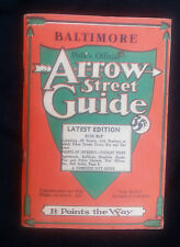 1948 Polk's Official Arrow Street Guide Baltimore MD Streets Tourist Trips MAP