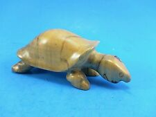 Hand Carved Statue Figurine - Smooth Turtle - Wooden