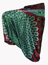 INDIAN BAGGY GYPSY HAREM PANTS YOGA MEN WOMEN PEACOCK FEATHER PRINT TROUSER YY6