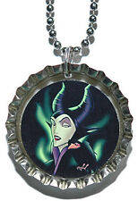 DISNEY VILLAIN MALEFICENT BOTTLE CAP NECKLACE (CAP014a)