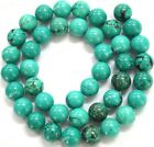 """4MM 6MM 8MM 10MM 12MM 14MM Natural Old Rock Turquoise Round Loose Beads 15"""""""