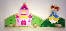 Garderobe,Gaderobenhaken,Kindergaderobe,Prinzessin,Schloß,Kinderzimmer,Holz,
