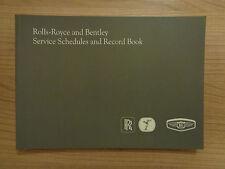Rolls Royce/Bentley NEW Service History Book