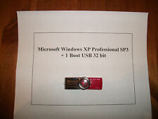 Microsoft Windows XP Professional SP3 + 1 Boot USB 32 bit