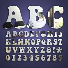 Alphabet Letters wall / door Decorative  mirrors acrylic shatterproof and safe