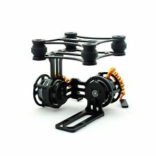 Light Weight 2 Axis CNC Camera Gimbal without 2208 Motors for Gopro DJI BLACK
