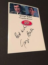 "GEORGE BAKER †2011 ""007 James Bond"" signed Foto 9x12"