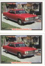 1965 Chevy Chevelle SS 396 Z16 baseball card sized cards - Must See!! - lot of 2