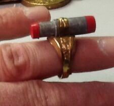 "original  vintage 1940's ""Terry and the Pirates"" Gold Detector premium ring VF"