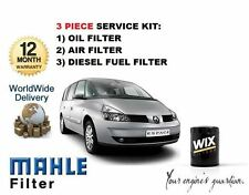 FOR RENAULT ESPACE 1.9DCi 2002--> 3 FILTER SET OIL AIR FUEL  FILTER SERVICE KIT