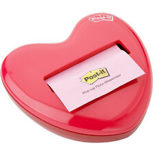"3M Post-It Pop-Up Notes 3"" x 3"" Red Heart Dispenser"
