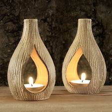 Pair of Peanut Shape Tea Light Holders
