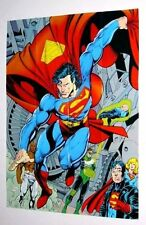 Vintage Original 1993 Superman is Back from the Dead / The Man of Steel Poster