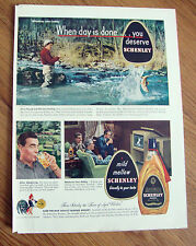 1949 Schenley Whiskey Ad Fly Fishing  Camel Cigarette Ad Fencer Castello Gilbert