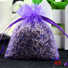 5pc Hot Real Lavender Organic Dried Flower Sachets Bud Bloom Bag Scent Fragrance