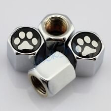 Silver Car Accessory Wheels Tire Valve Cap Dust Air Hat For Foot Print Decorate