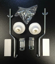 Fixing kit (white) for front carrier rack for Vespa, LML & Lambretta by Cuppini