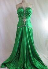 Tony Bowls Paris Pageant Holiday Formal Green Rhinestone Gown 8 10
