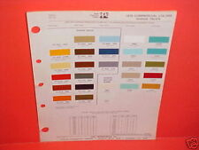 1976 DODGE PICKUP TRUCK RAMCHARGER MOTOR HOME PLYMOUTH TRAIL DUSTER PAINT CHIPS