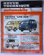 "RTA de 7/1986; Toyota ""Lite Ace"" 190 et 1486 cm3/ Evolution Citroen C35 essence"