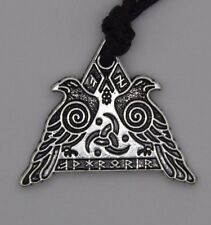 Valhalla Runic Viking Warrior WICCAN Pendant Necklace Silver plated. Adjustable