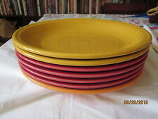 Lot of 7 Assorted Colors Oblong Vintage Fiesta Plates