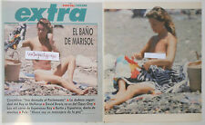 MARISOL Pepa Flores 1987 4 page article nude topless fotos desnuda clippings